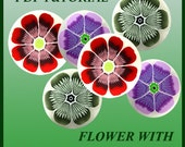 PDF Tutorial - How to creat flower with stamens decoration cane