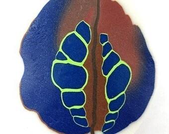 Polymer clay unusual leaf cane