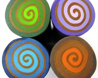 Polymer clay decorative canes