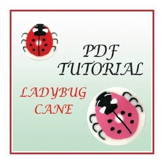 PDF Tutorial - How to creat Ladybug cane