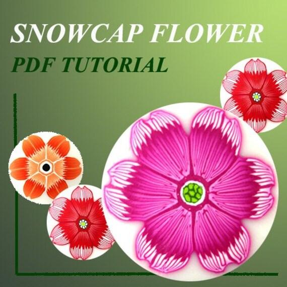 PDF Tutorial - How to creat Snowcap flower cane