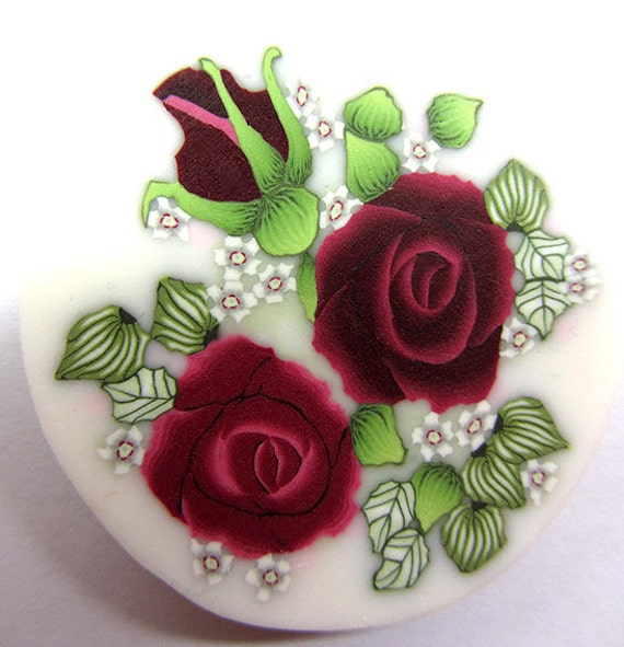 Polymer clay roses cane