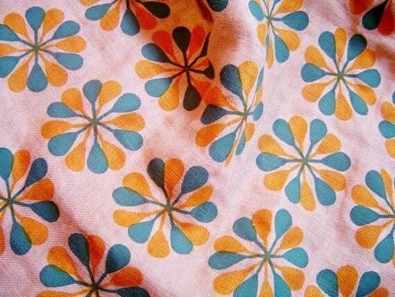 retro flower kitchen towel - 107