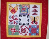 Small Colorful Quilt  ON SALE FREE SHIPPING