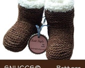 SNUGGS (c) - Suede Knit Baby Bootees - PDF PATTERN (sizes incl. 0-3, 3-9, 9-12 months)