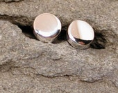 Simple Classic Studs 4mm Round Stud Earrings Men Sterling Silver Jewelry by Susan Sarantos