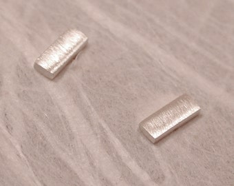 5mm x 2mm Brushed Bar Studs Small Earrings by Susan Sarantos