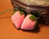 Rose Pink Strawberry Charm