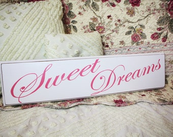 Sweet Dreams SIGN HAND PAINTED Cottage Style for Nursery or Bedroom