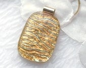 Golden Waves Dichroic Fused Glass Pendant 827d051211 - GetGlassy