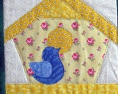 Bird Houses Quilted Wall Hanging