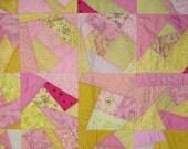 SALE   Pink Lemonade Crazy Quilt