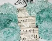 Seam Binding Ribbon , Crinkled , SERENE WATERS , 18 YARDS , Aquas Ribbons ,  Blue Ribbon , Turquoise Ribbon