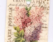 Vintage Tags - Lilac Gift Tags  - Vintage Romantic Lilacs  -  by Bluebird Lane