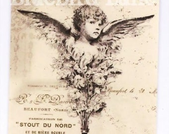 French Tags ,  Vintage  French Cherub , Wedding Tags , French Country Style Tags , Paris Flea Market
