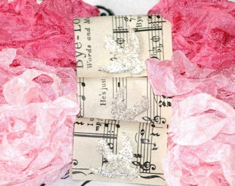 Seam Binding , Crinkled ,  TICKLE ME PINK  ,  18 yards , Light Pink Ribbon , Medium Pink Ribbon , Dark Pink  Ribbon , Card Making Supply