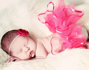 Baby Girl Tutu by Whimsy Wendy, Newborn Photo Shoot First Christmas