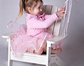 Pink Tutu, Dress Up BALLET Tutu with Blooming Satin Pink Roses