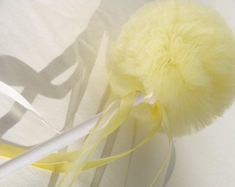 Tulle Wand, Mini Whimsy Wishing Wand in Butter Yellow