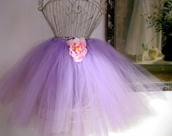 Purple Tutu Lilac Ballet Length Tulle Skirt Dress up COSTUME or BALLET or Photo Session