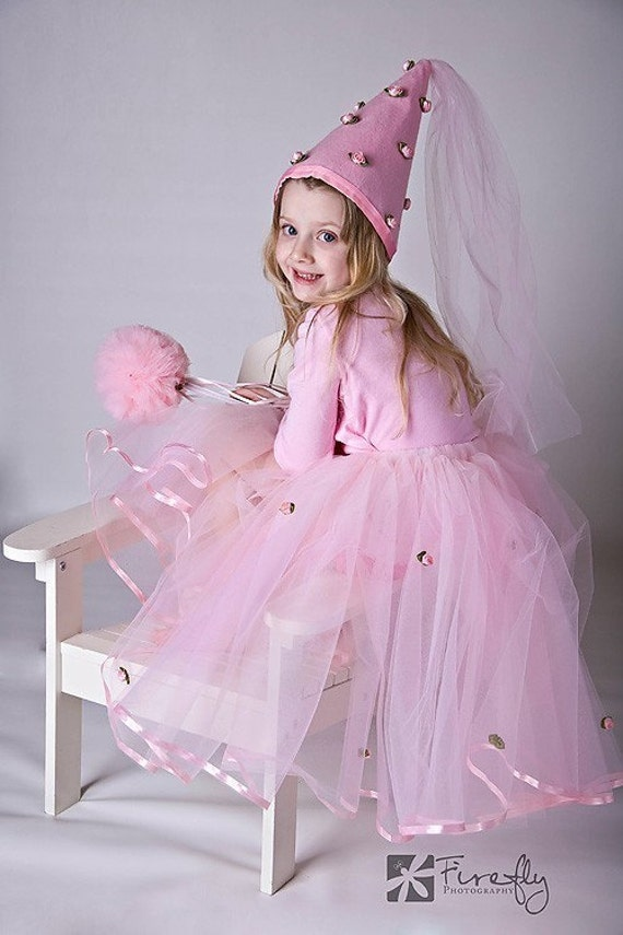 Pink Pretty As A Princess Costume Tutu Set with Hat and Wand