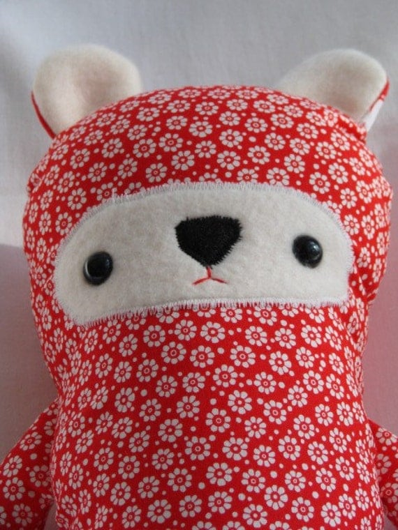 Cheery Cherry Red Love Nog Bear