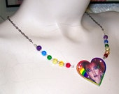 CLEARANCE Cyndi Lauper Rainbow Beaded Necklace