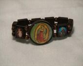 Brown Mexican Folk-Art Bracelet