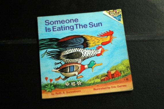 Someone Is Eating The Sun Vintage Childrens Book 1974