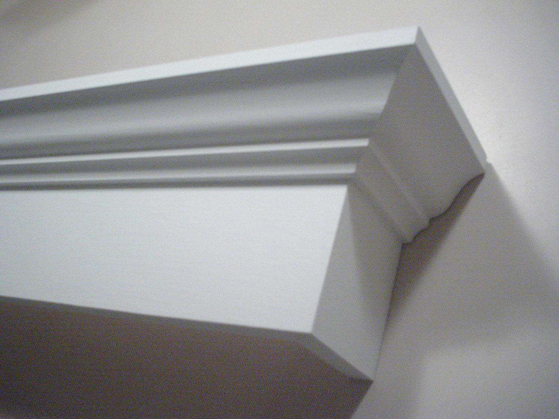 28 Crown Molding Cornice Wood Window Valance Satin White