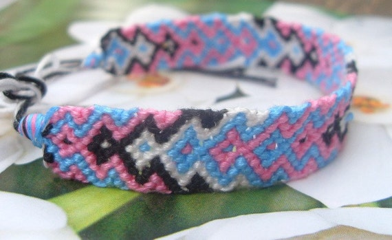 arrow design knotted cotton friendship bracelet SALE