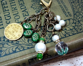 My Time is Yours Shamrock Purse Jeans Jewelry Dangle