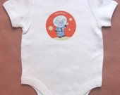 Space Mouse Baby Onesie