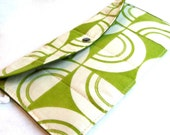 recycled, quilted vintage fabric clutch...sustainable purse