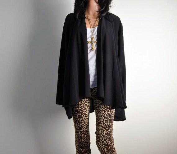 witches' rave vintage asymmetric draped avant garde jacket s m l