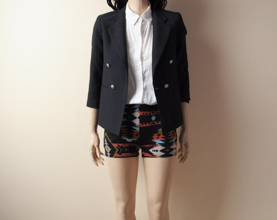black shrunken tiny fit blazer jacket (2) xs/s