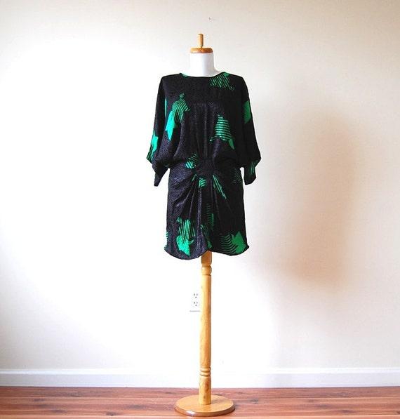 black kimono avant garde dress m l