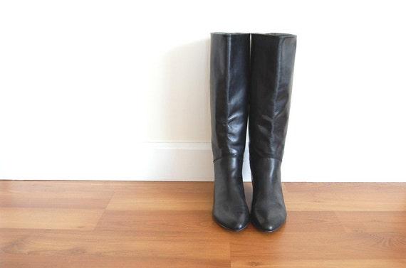 hello i love you vintage black pixie boots 7