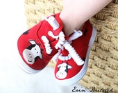 Children's shoes - Barnyard Cow sneakers - hand painted shoes for boys and girls - baby shoes