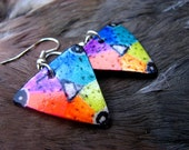 Triangle Rainbow earrings