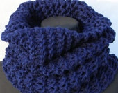 Midnight Blue Oversized Super Warm Cowl