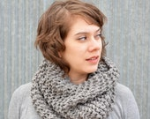 Charcoal Grey Oversized Super Warm Cowl