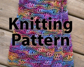 Easy Drop Stitch Scarf - Commercial Use Knitting Pattern