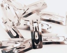30mm Snap Clip Rectangular for Hair Bows 24 Pieces