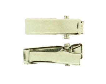20mm Rectangle Alligator Pinch Clips with Teeth - 24 pcs (RAC-20-24)