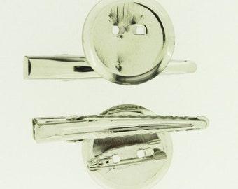 24 pieces - 1 inch (25mm)  Dual Brooch Clip - Hat Clip