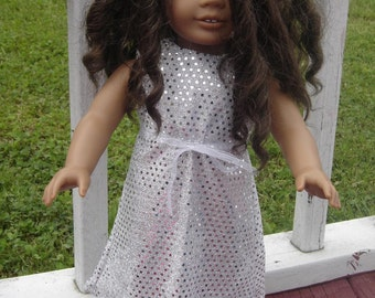 Silver Sequin dress for the American Girl