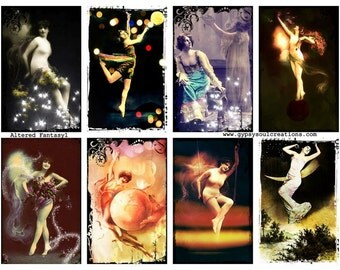 Altered Fantasy 1 - Altered Arts -  Digital Collage Sheet