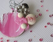 Handmade Personalize Fun Snowman Christmas Holiday Ornament - Sugarie Delight Hot Pink Bubblegum