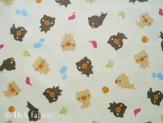 Japanese Cotton Fabric - Sweet Pig (386) 1yard